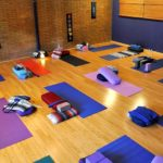 this yoga studio should be full of yogis stretching